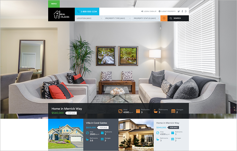 WordPress Real Estate Theme With Advanced & Customizable Search