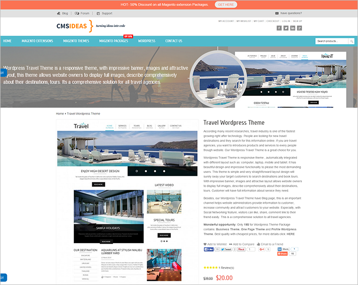 WordPress Travle Template