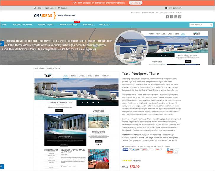 WordPress Travle Template
