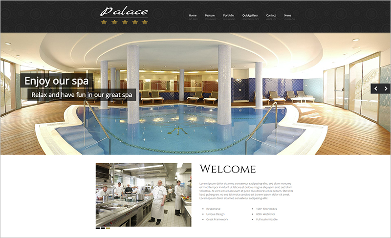 WordPress theme For Luxury Hotels Booking