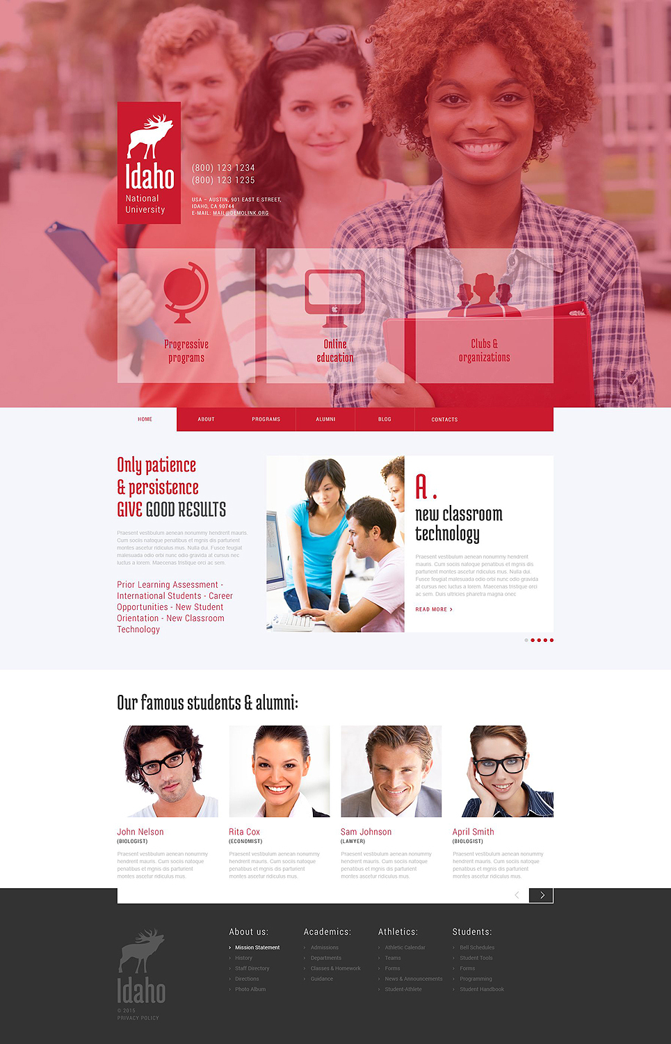 Wordpress University Theme