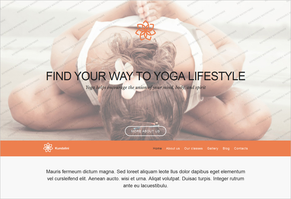 Yoga Club WordPress Theme Free Download