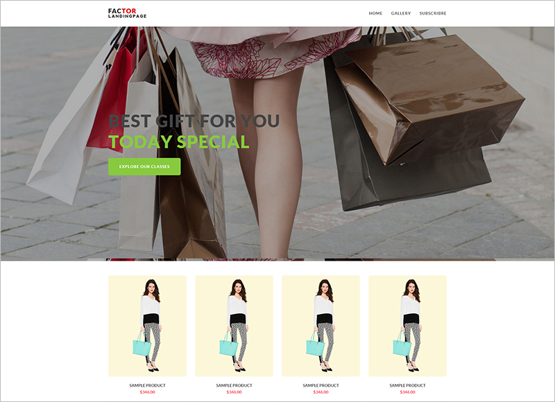 eCommerce Marketing Landing Page Template