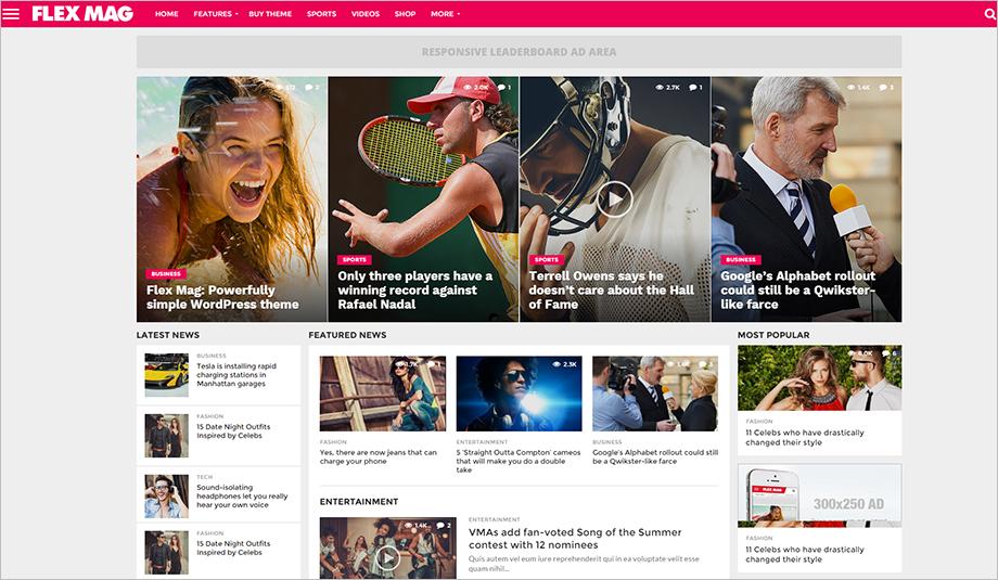 2015 Best WordPress Blogging Theme