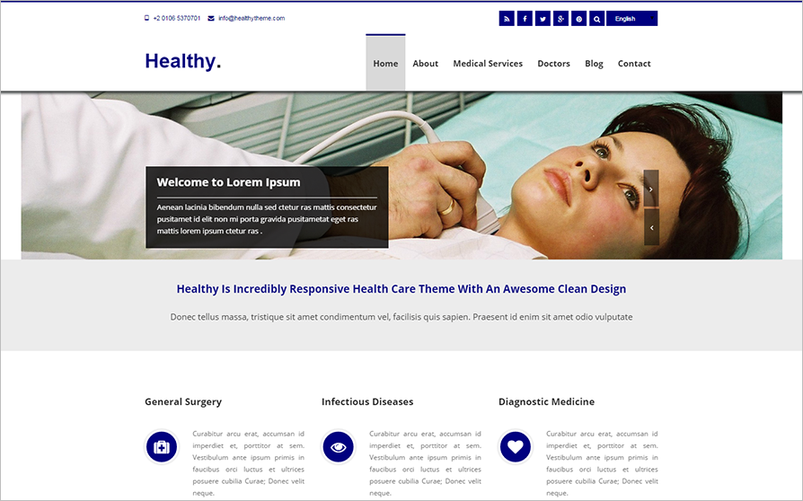 2015 Joomla Template For Health Care & Medical Website