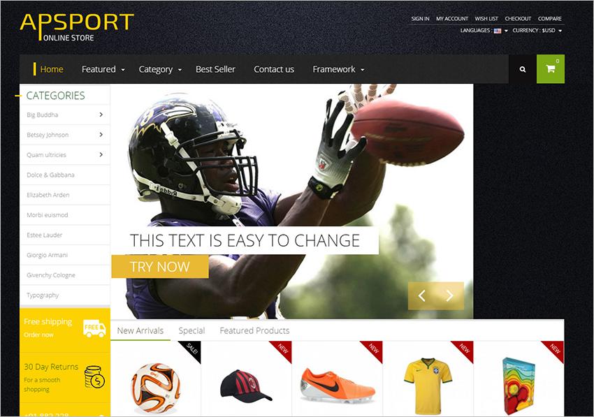 2015 Sport Store Prestashop