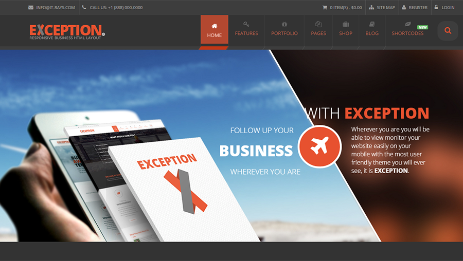 2105 Responsive Business Template Built On HTML5&CSS3