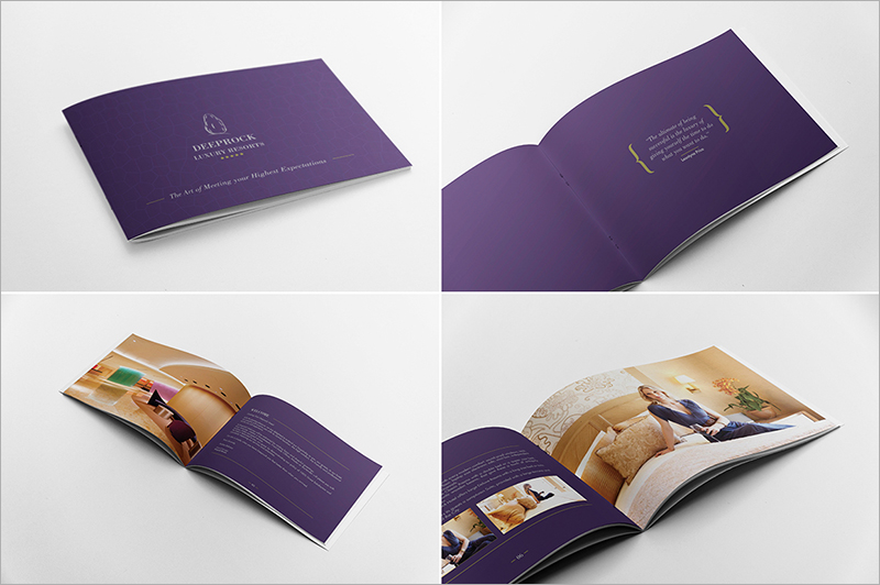 Restaurant Brochure Designs Templates Examples – Hotel Brochure Template