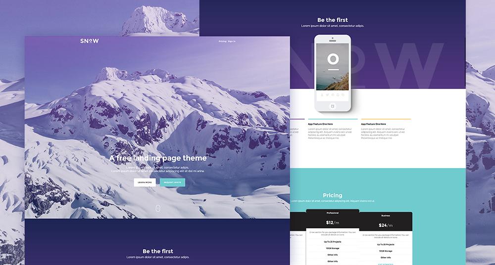 A Free Landing Page Theme