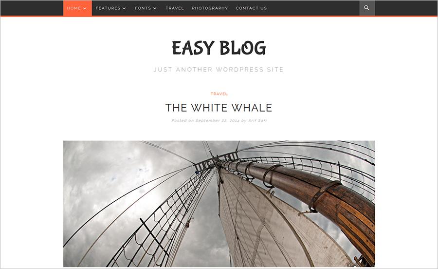 A Full Screen Blog WP Theme
