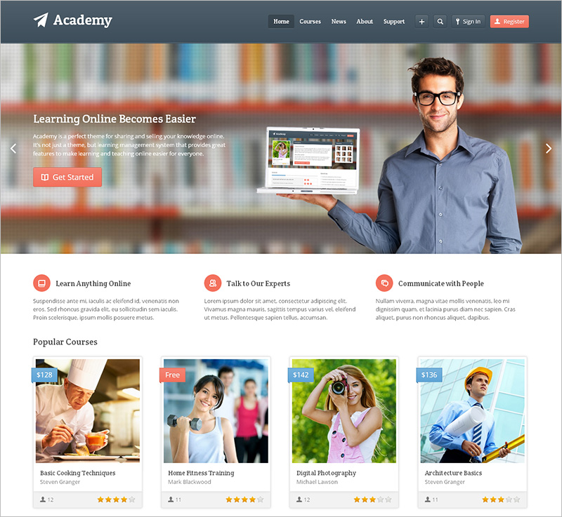 Academy Learning Management WordPress Theme