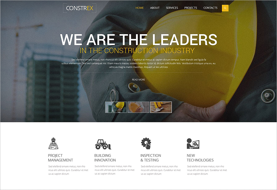 Architecture Responsive Website Template