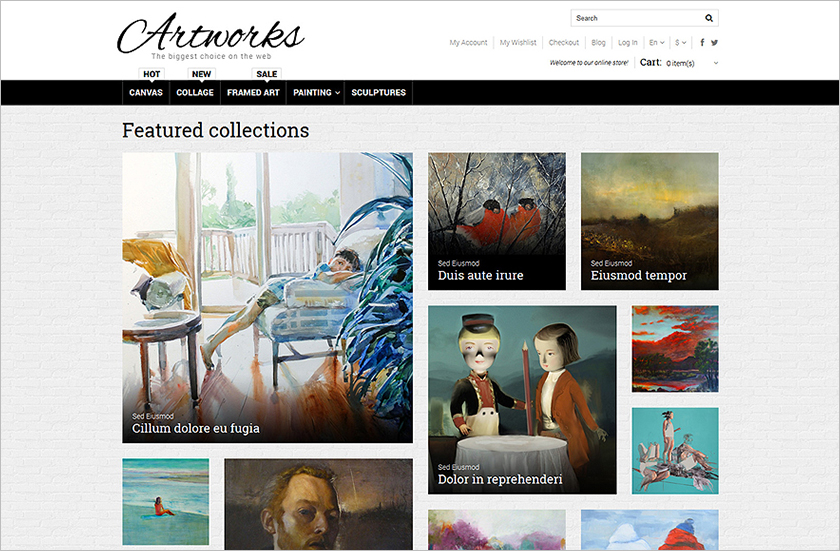 Art Store Responsive Magento Theme