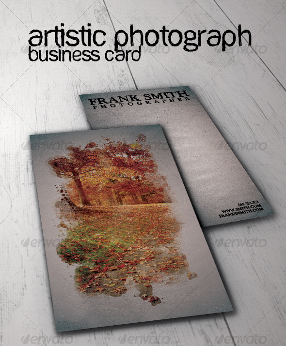 Artistic Photograph Business Card
