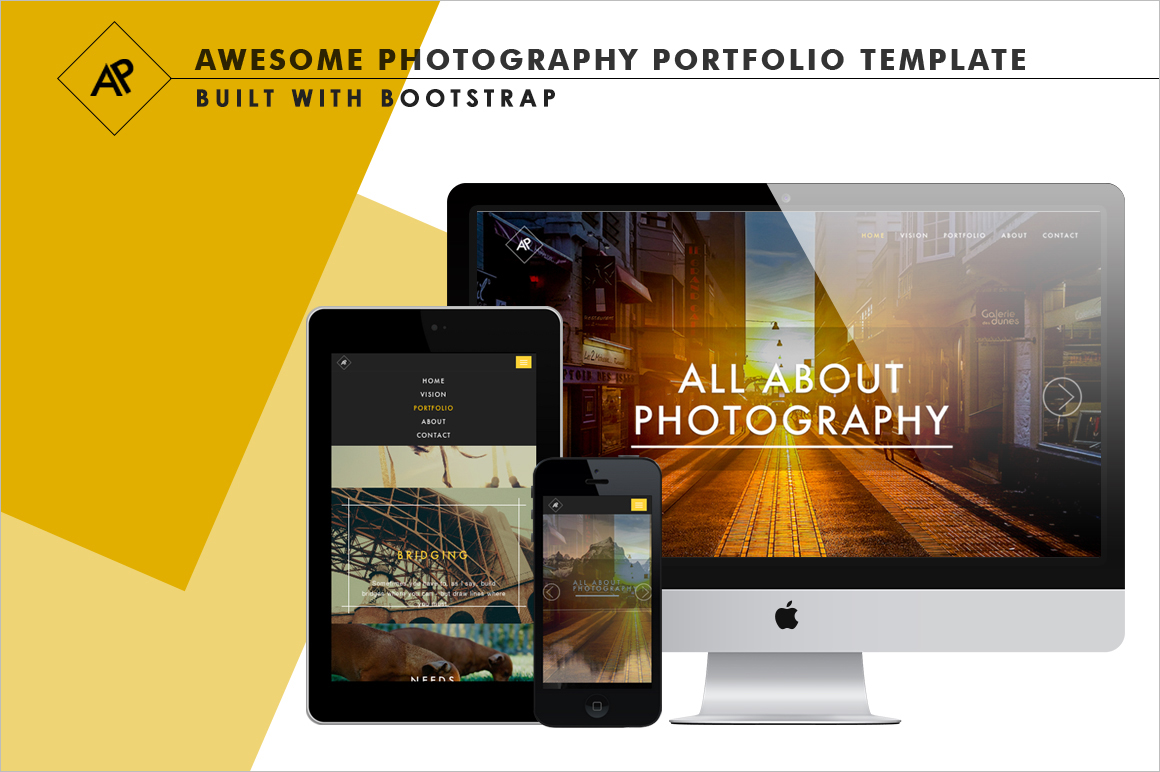 Awesome PhotographyPortfolio Template with Bootstrap