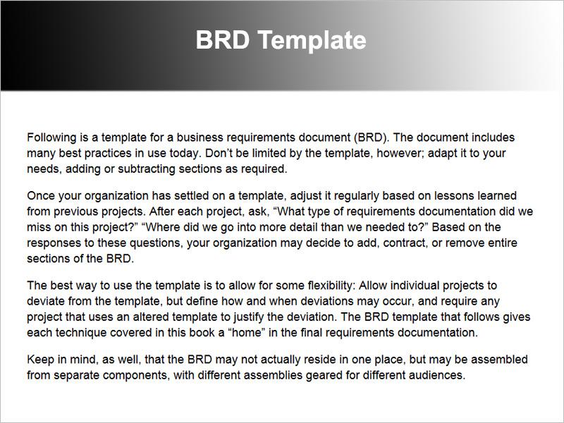 BRD Sample Template