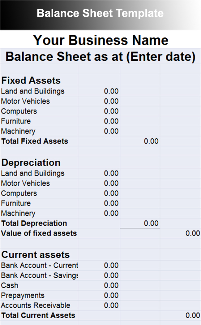 Balance Sheet Template - Free Excel, Word Documents Download ...