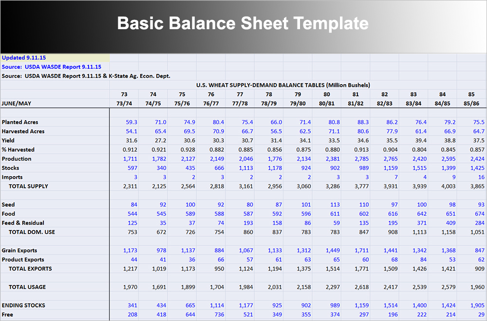 Balance Sheet Template Free Excel Word Documents Download – Balance Sheet Format Download