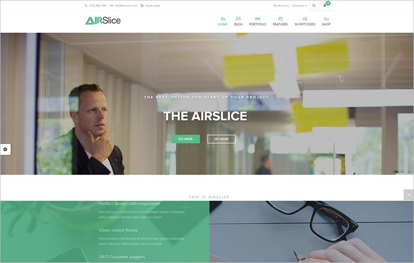 Beautiful & Modern Corporate Layout HTML Template