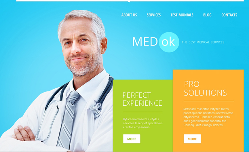 Best Joomla Template For Professional Health Care Web Template