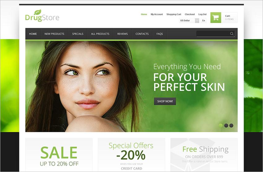 Best Online Store ZenCart Template