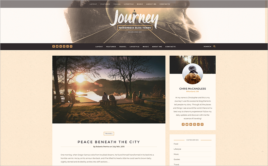 Best Rated Responsive & Retina Ready WordPress Personal Blog Template