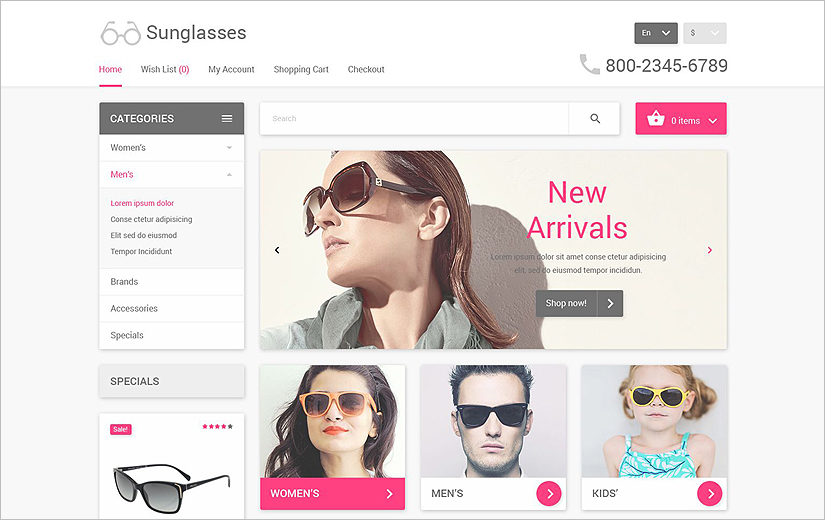 Best eCommerce Responsive Web Template Built On HTML & JQuery
