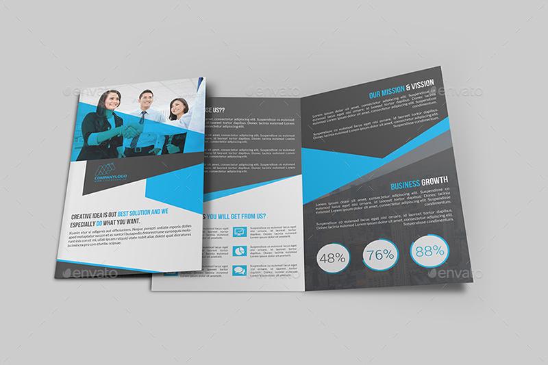 Bi Fold Brochure Template for Companys
