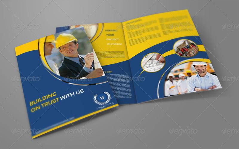 Bi-Fold Construction Company Brochure Template