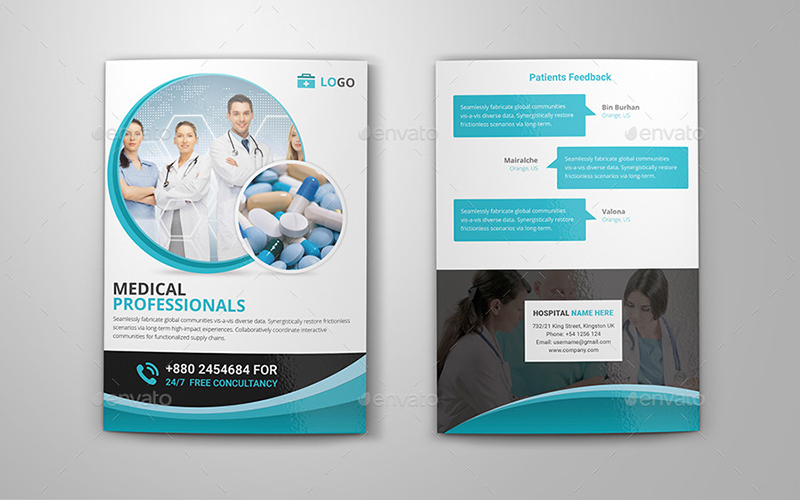 Bi fold Brochure Template for Medical