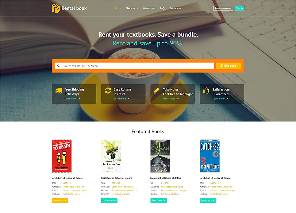 Books Responsive Bootstrap Website Template