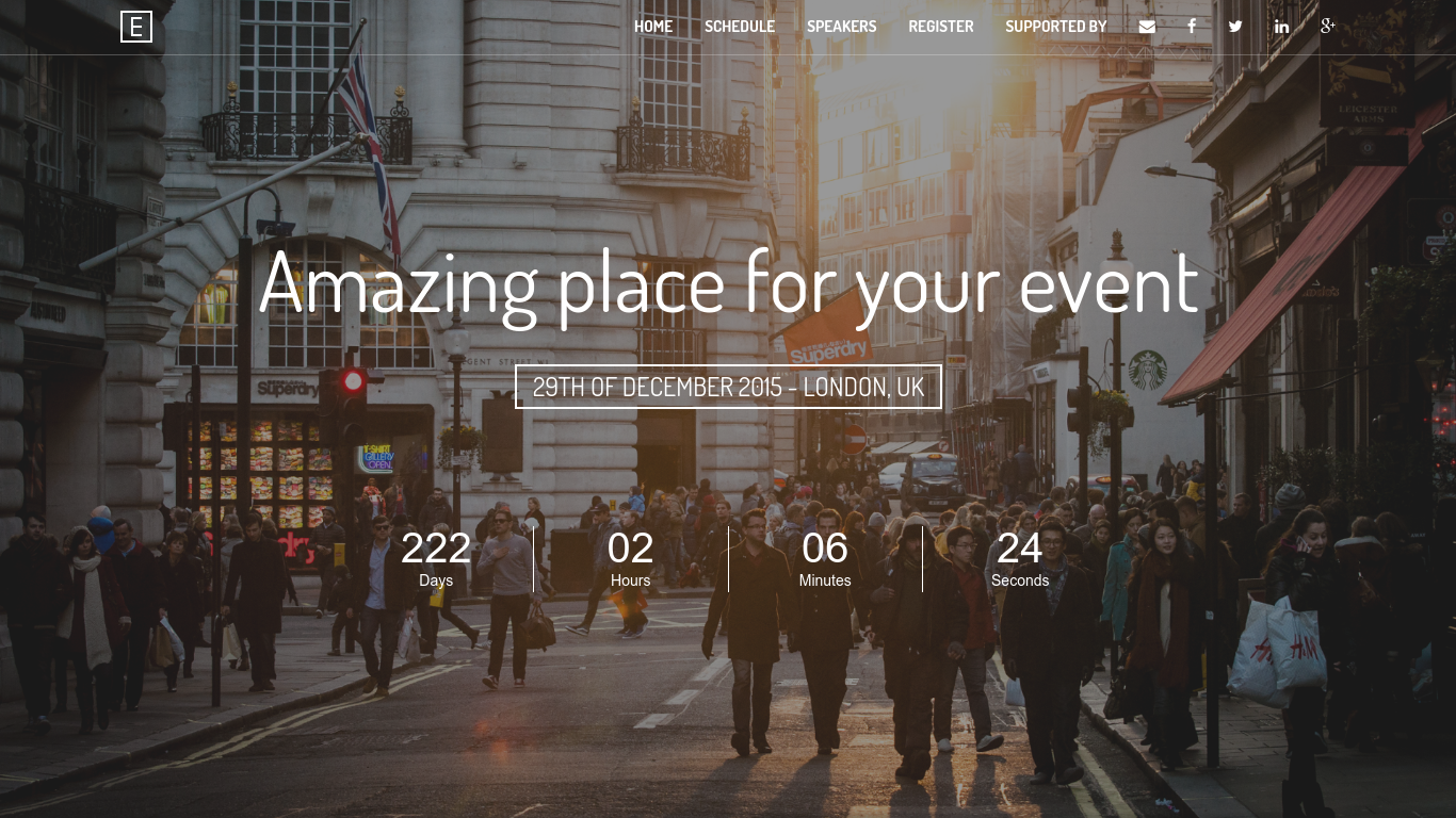 Bootstrap 3 Event Landing Page Template