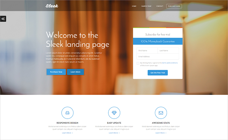 Bootstrap 3 Landing Page Template