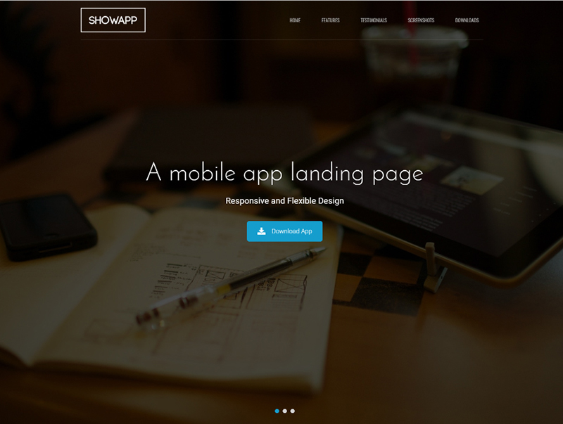 Bootstrap App Showcase Template