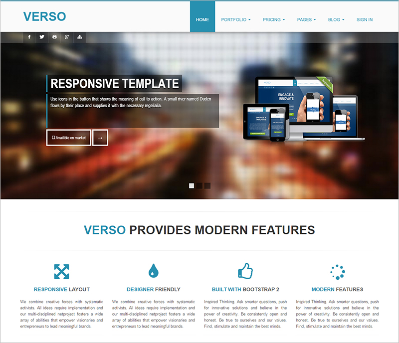 Bootstrap Responsive Multifunctional Template