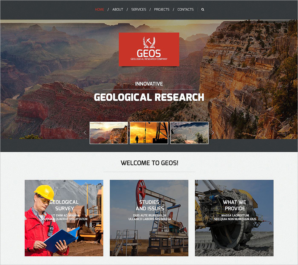 Bootstrap Responsive Website Template for Industrial
