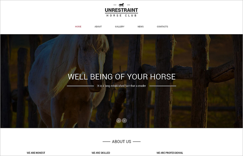 Bootstrap Template One Page Gallery