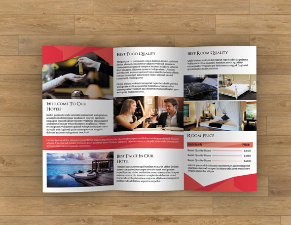 Brochures for Hotels and Resort Industrie
