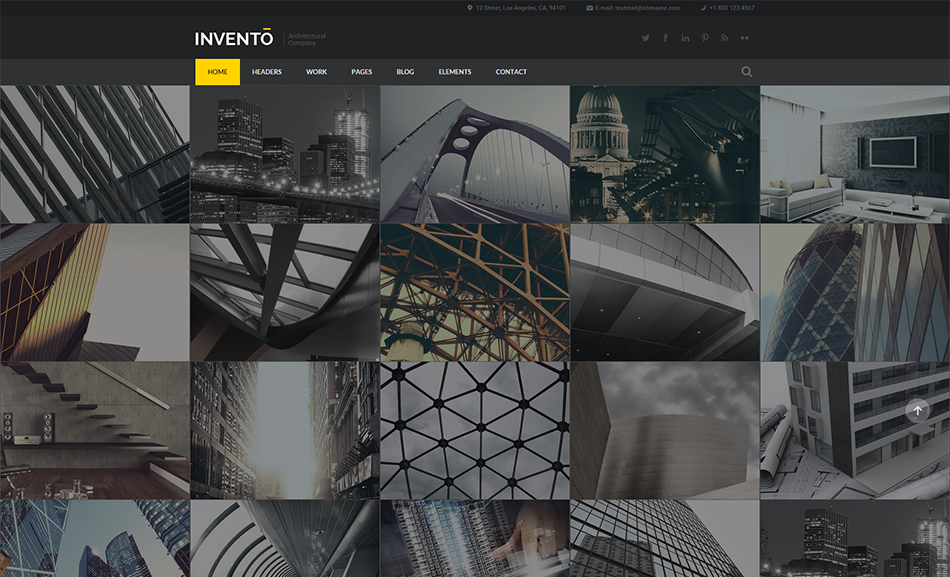 Building Agency Gallery Site Bootstrap Template