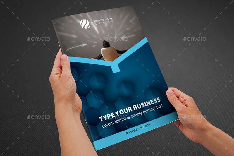 Business Bi Fold Brochure Template Design