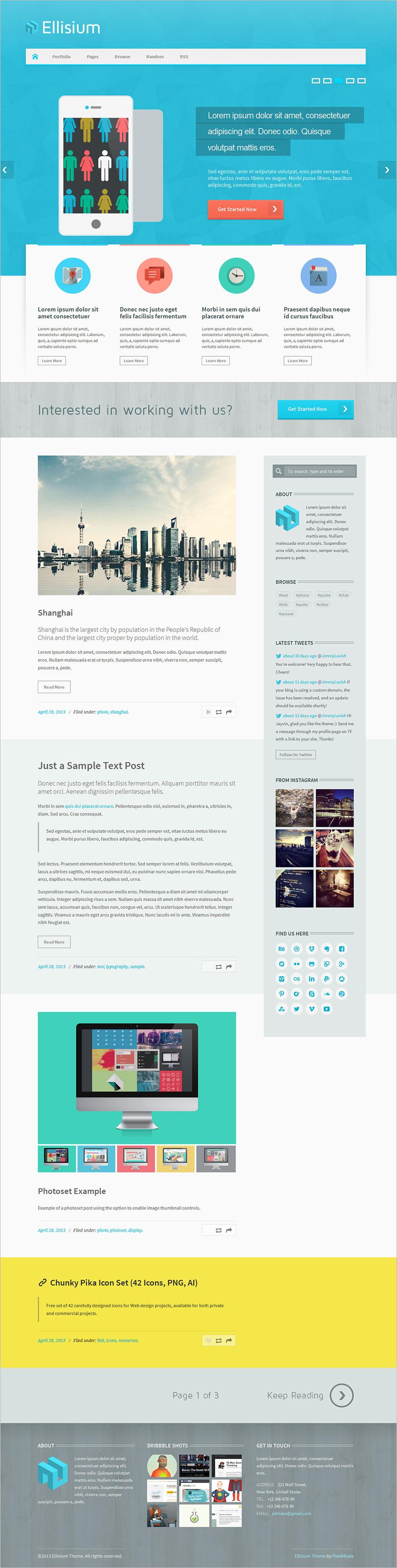 Business Blogging Tumblr Theme