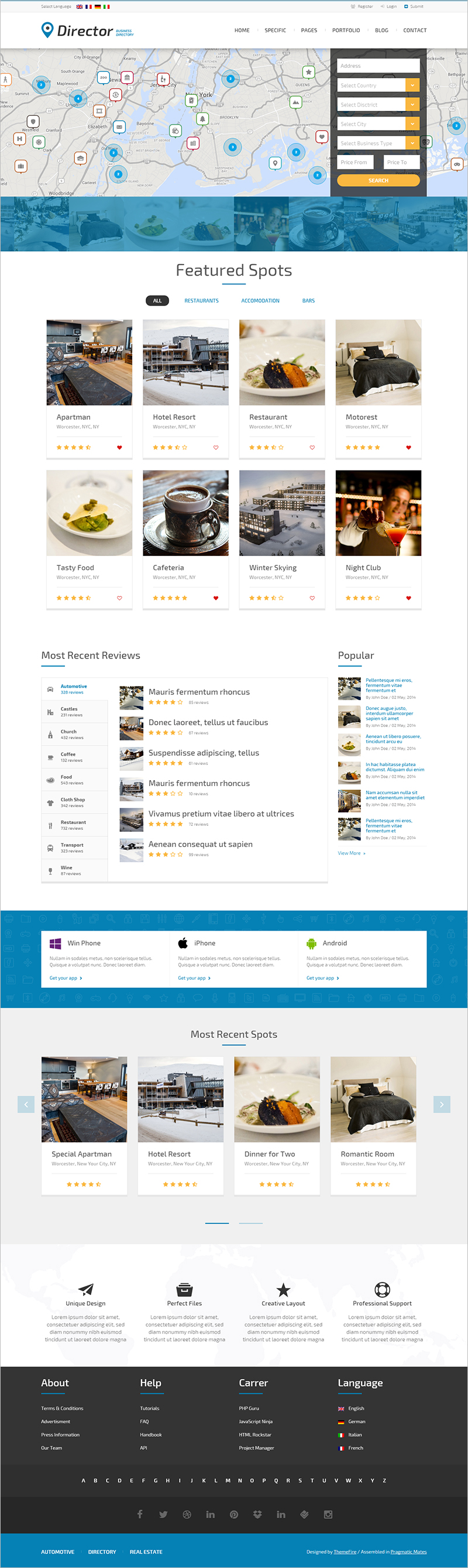 4 php directory templates free premium templates business directory web template carreal estate business wajeb Image collections