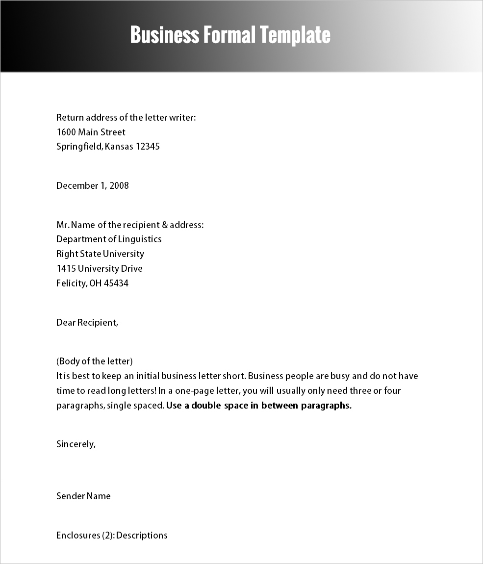 formal letter templates word documents formal letter templates word docs