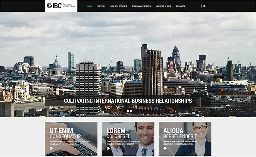 Business HTML Template 2015