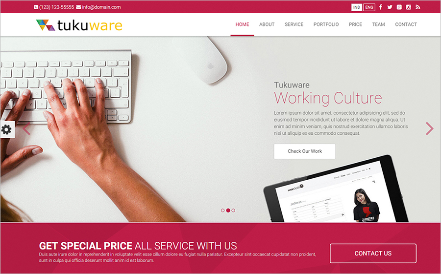 Business HTML5 One Page Template