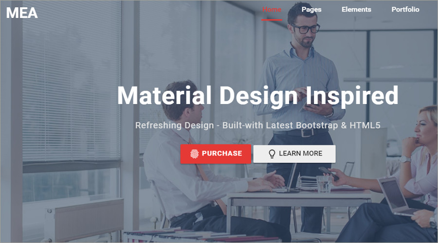 Business Material Design HTML Template