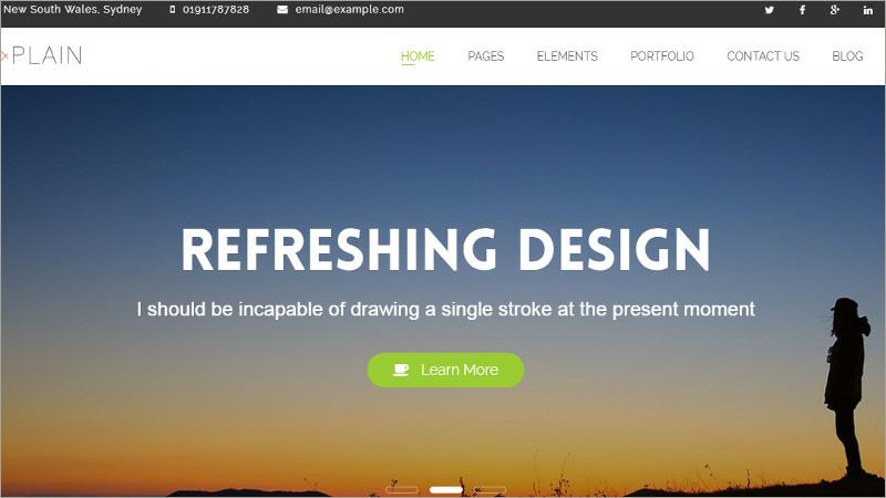 Business Plan HTML Website Template