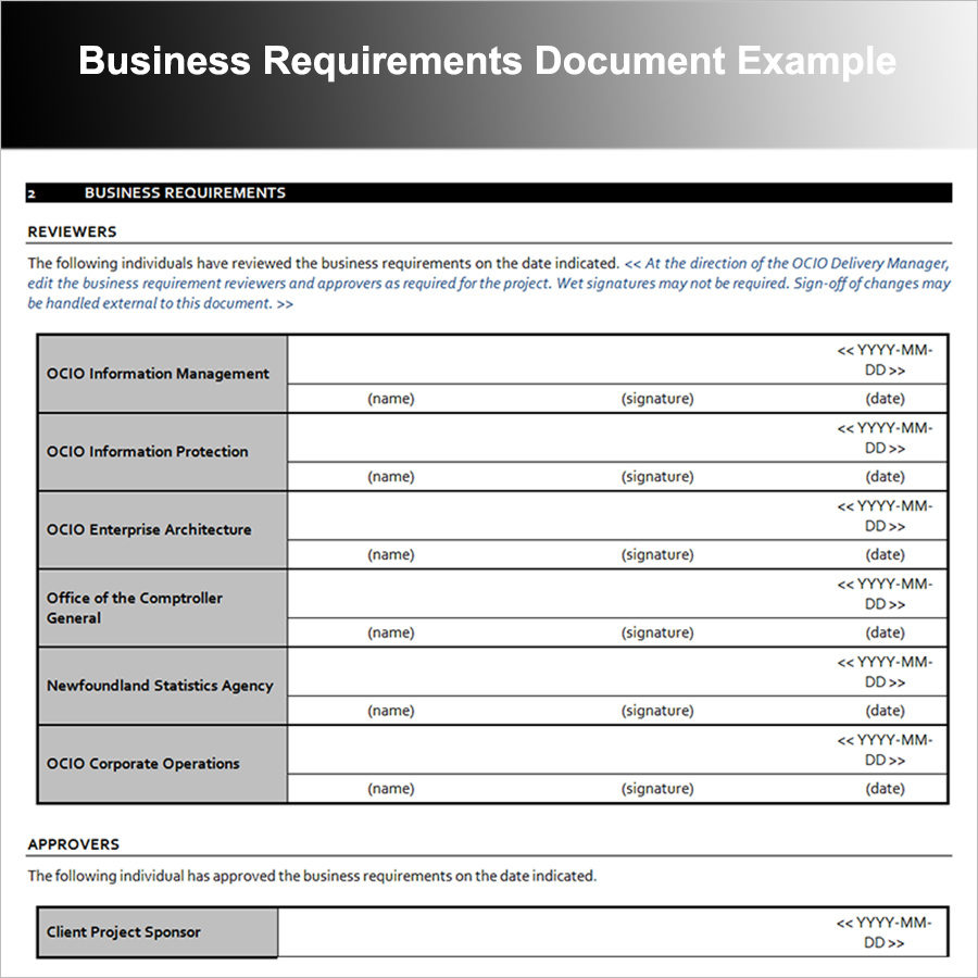 Business Requirements Document Template - How to write business requirements document