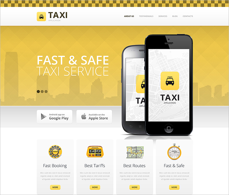 Cab &Taxi Business Drupal Template