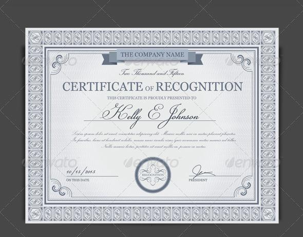 Best Certificate Designs  Free  Premium Templates